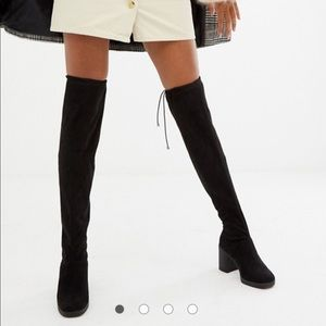ASOS new look over the knee chunky heeled boot
